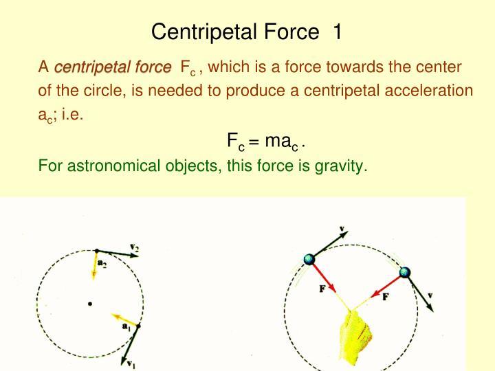 Centripetal Force  1