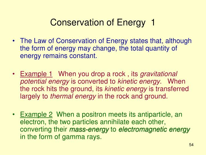 Conservation of Energy  1