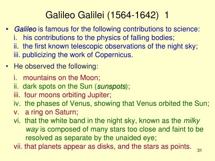 Galileo Galilei (1564-1642)  1