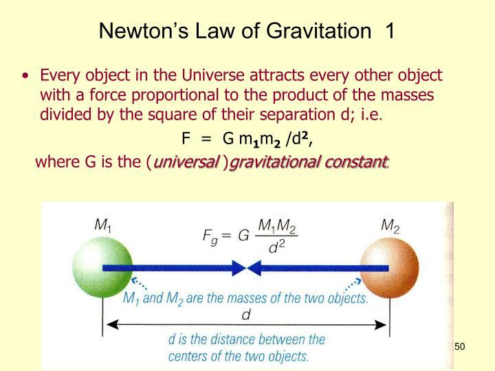 Newton's Law of Gravitation  1