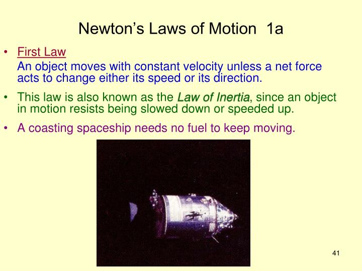 Newton's Laws of Motion  1a