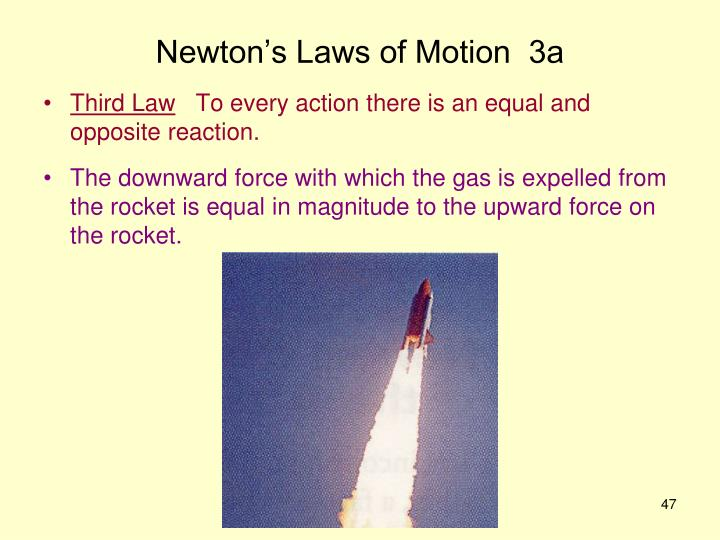 Newton's Laws of Motion  3a