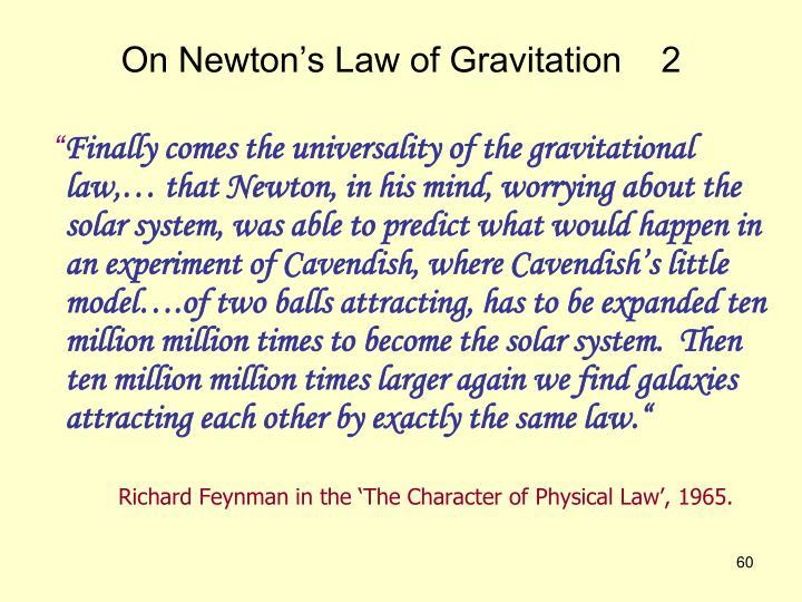 On Newton's Law of Gravitation    2