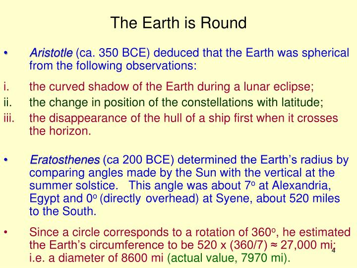 The Earth is Round