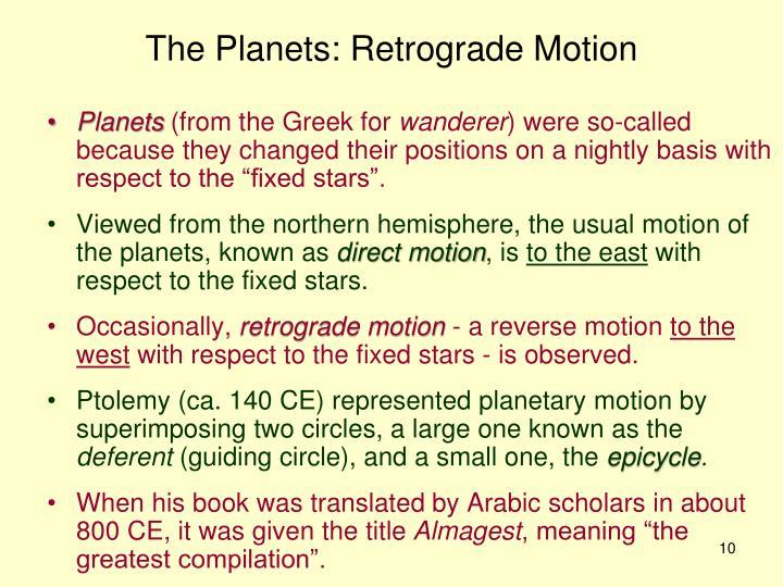 The Planets: Retrograde Motion