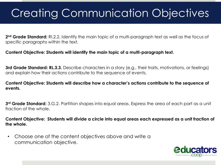 Creating Communication Objectives