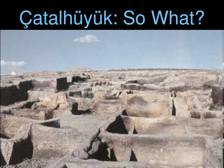 Çatalhüyük: So What?
