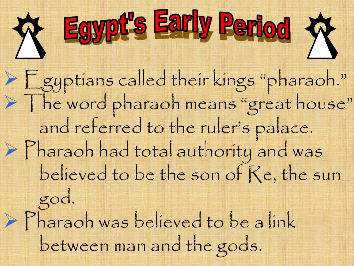 Egypt's Early Period