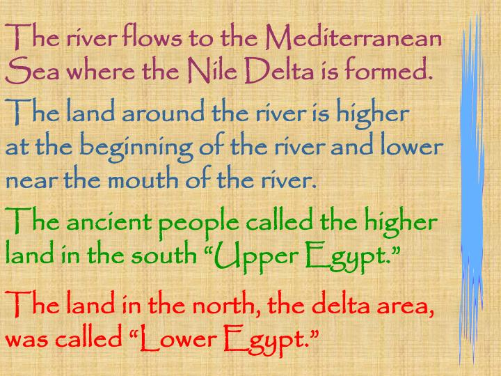 The river flows to the Mediterranean