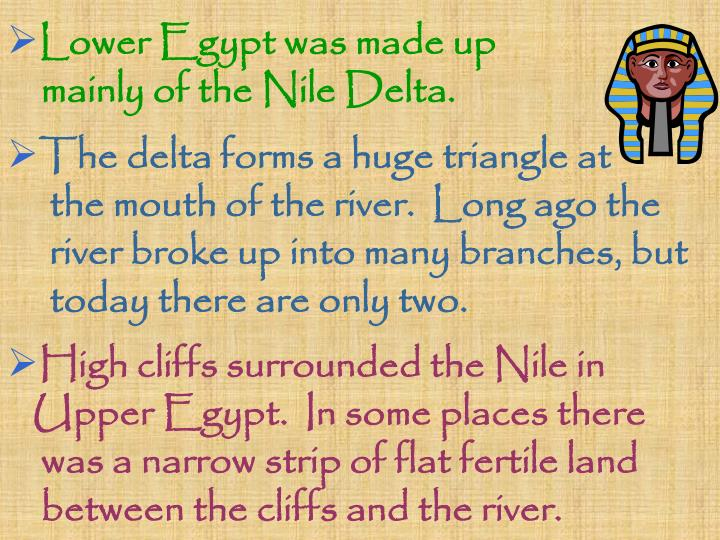 Lower Egypt was made up