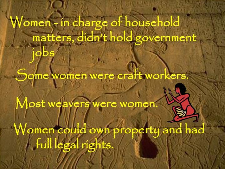 Women - in charge of household
