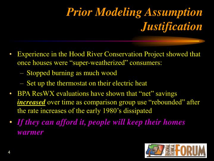 Prior Modeling Assumption Justification