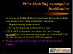 prior modeling assumption justification