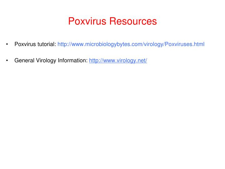Poxvirus Resources