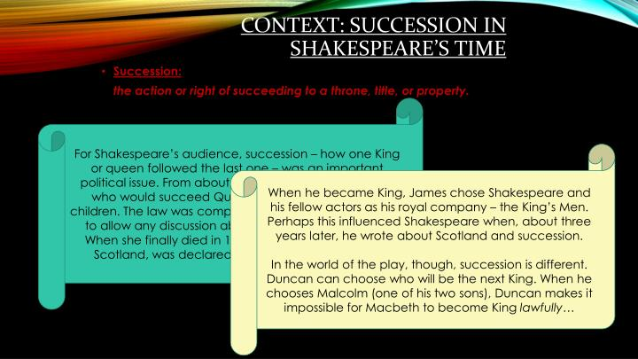 Context succession in shakespeare s time