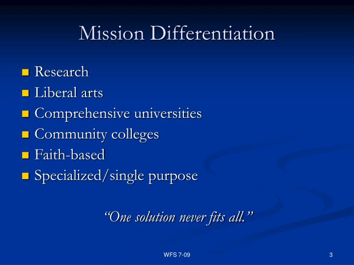 Mission Differentiation