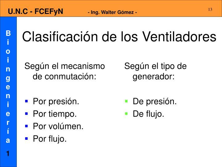 Según el mecanismo de conmutación: