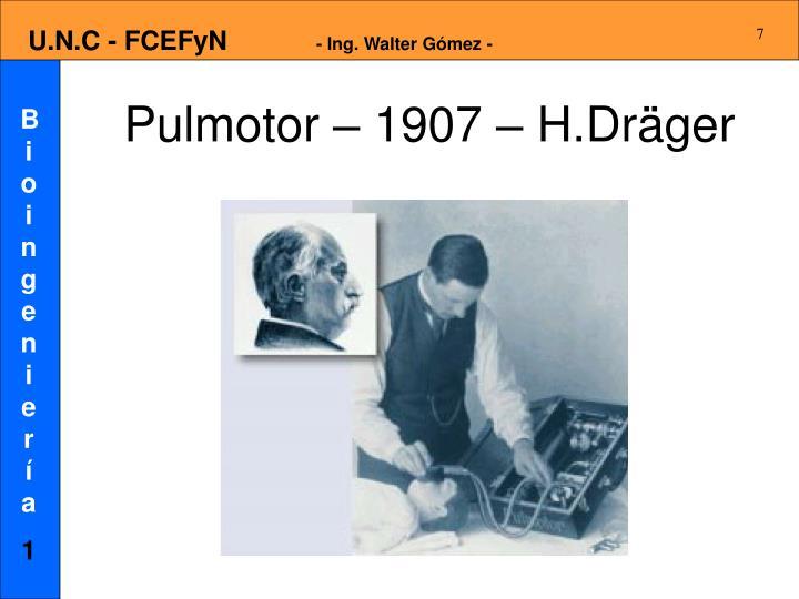 Pulmotor – 1907 – H.Dräger