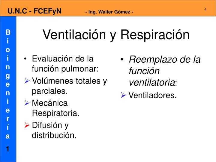 Evaluación de la función pulmonar: