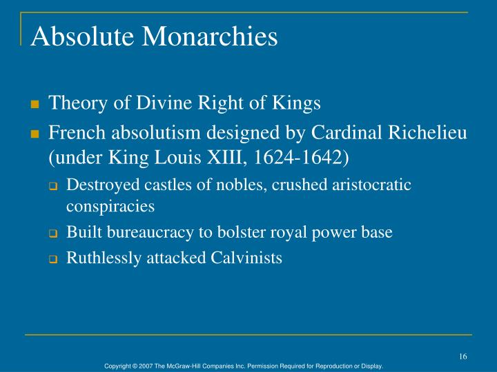 Absolute Monarchies