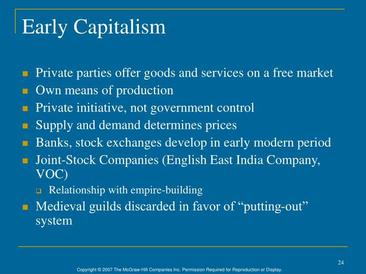Early Capitalism