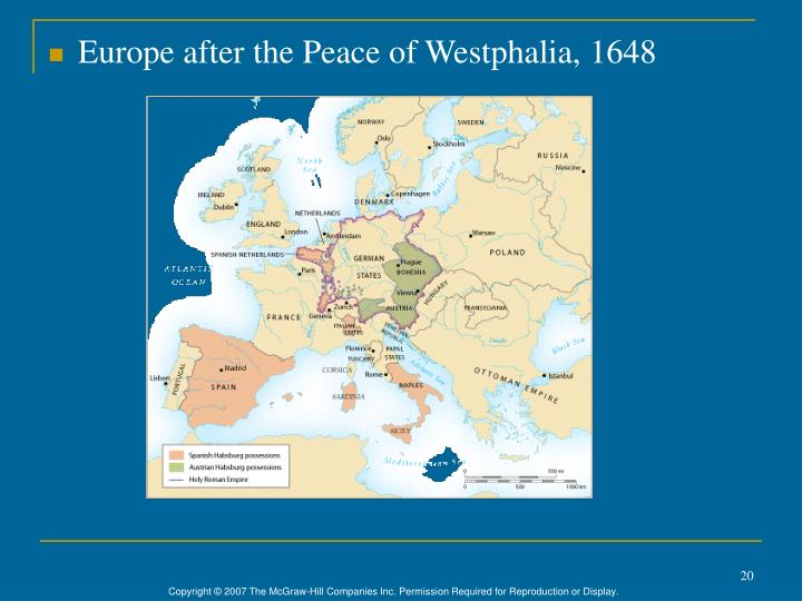 Europe after the Peace of Westphalia, 1648