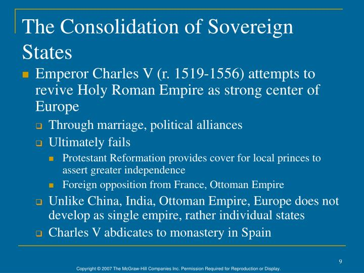 The Consolidation of Sovereign States