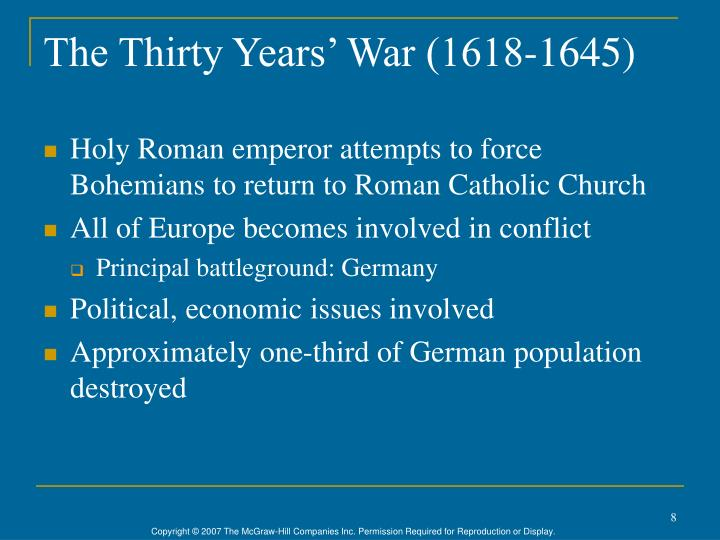 The Thirty Years' War (1618-1645)