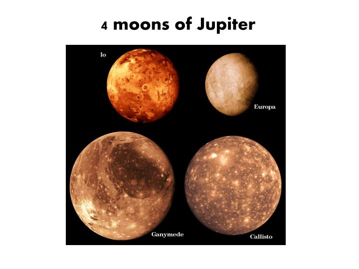 4 moons of Jupiter