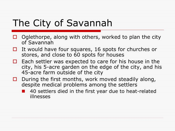 The City of Savannah