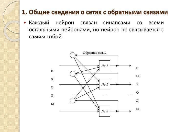 Общие сведения о сетях с обратными связями