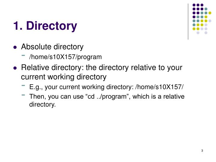 1. Directory