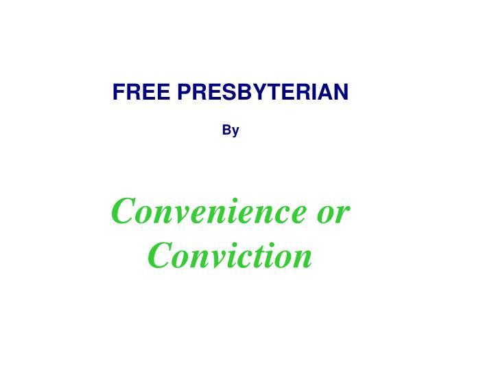 FREE PRESBYTERIAN