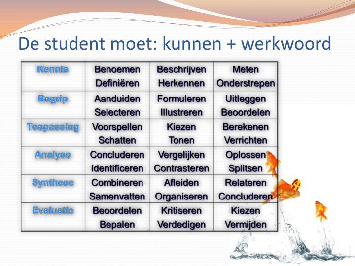 De student moet: