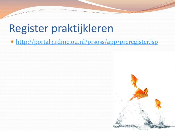 Register praktijkleren