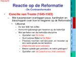 reactie op de reformatie de contrareformatie