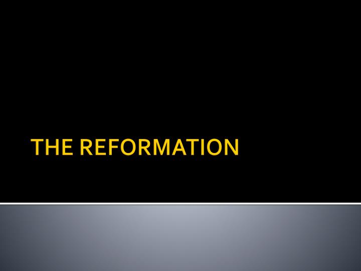 causes of the reformation in europe