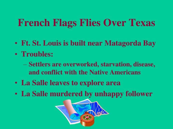 French Flags Flies Over Texas