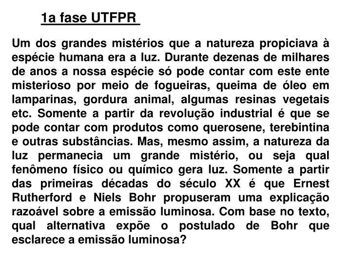 1a fase UTFPR