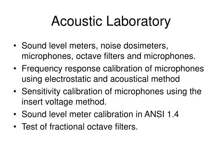 Acoustic Laboratory