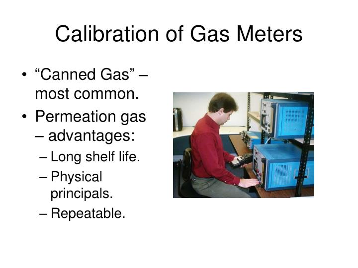 Calibration of Gas Meters