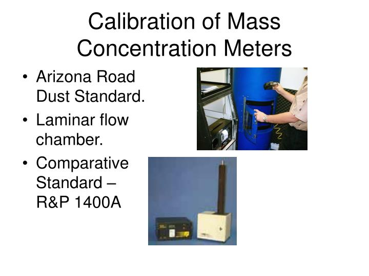 Calibration of Mass Concentration Meters