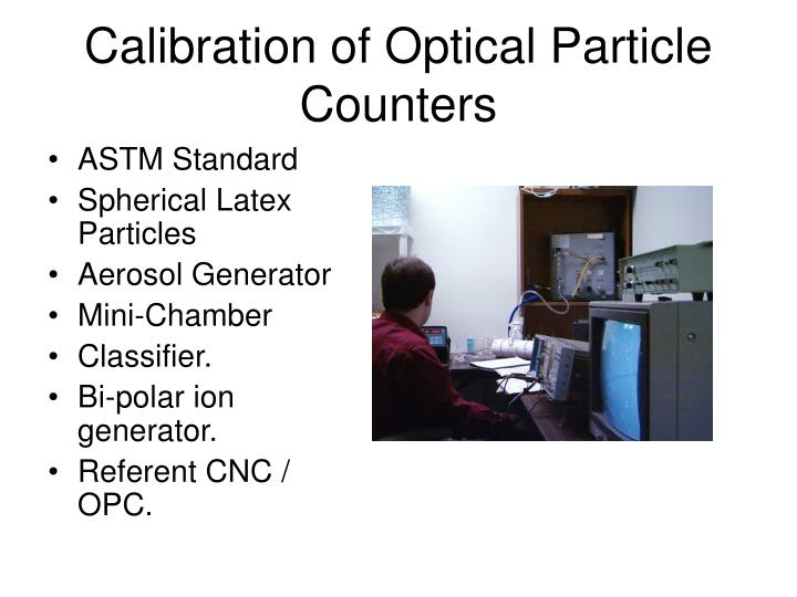Calibration of Optical Particle Counters