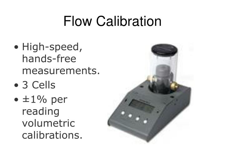 Flow Calibration