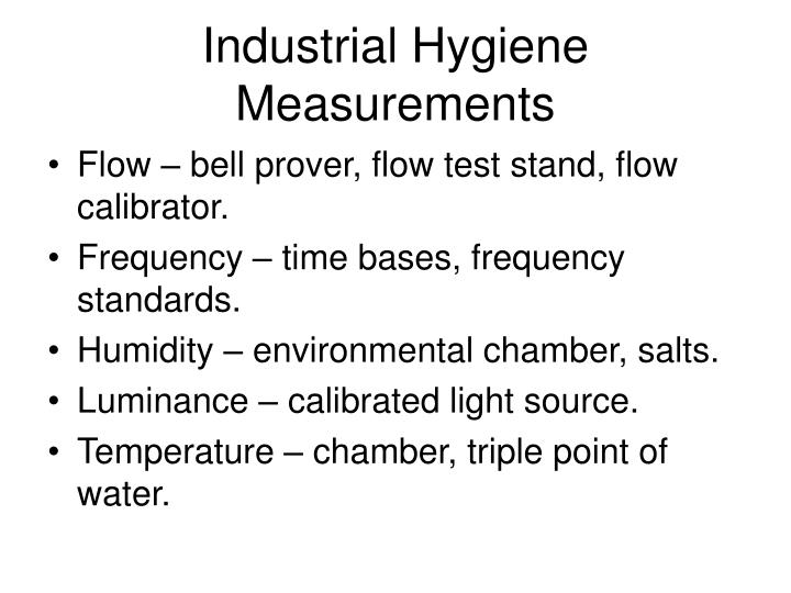 Industrial Hygiene Measurements