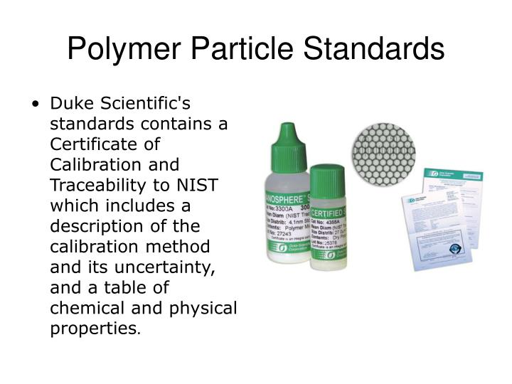 Polymer Particle Standards