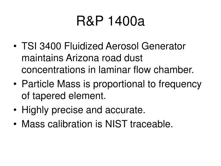 R&P 1400a