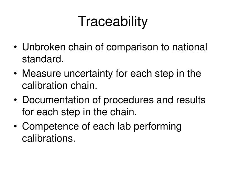 Traceability