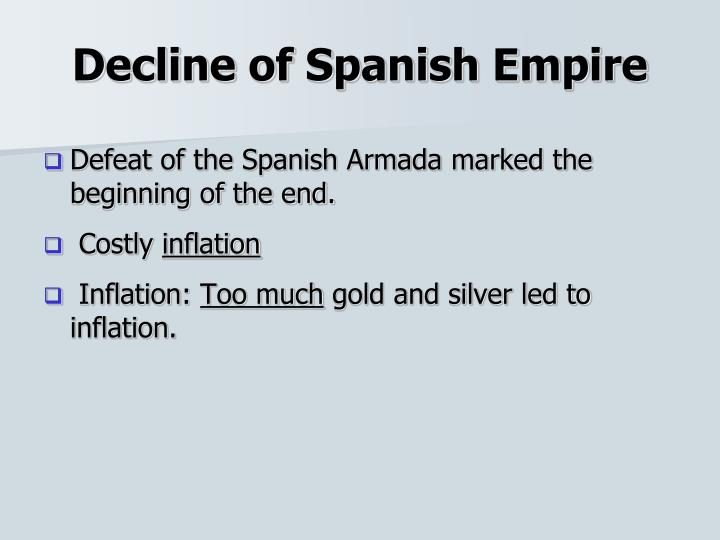 Decline of Spanish Empire