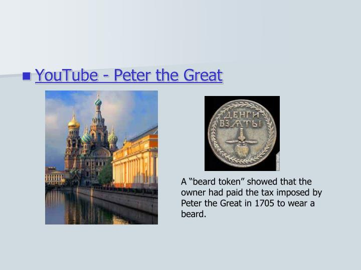 YouTube - Peter the Great
